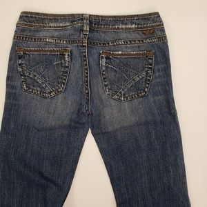 Silver Jeans Tina Low Rise Boot Cut Antiqued Jeans